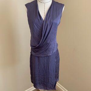 Helmut Lang Shirting Drape Dress Titan Purple